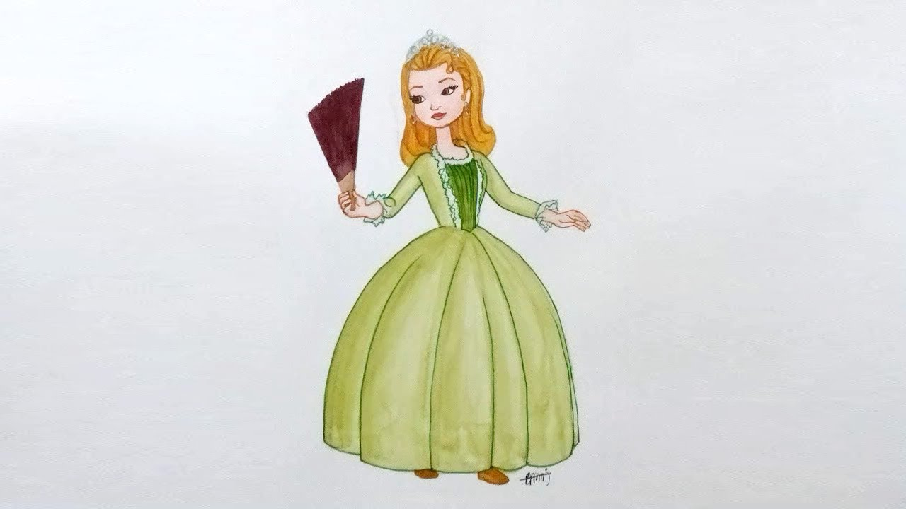 1280x720 How To Draw Princess Amber From Sofia The First