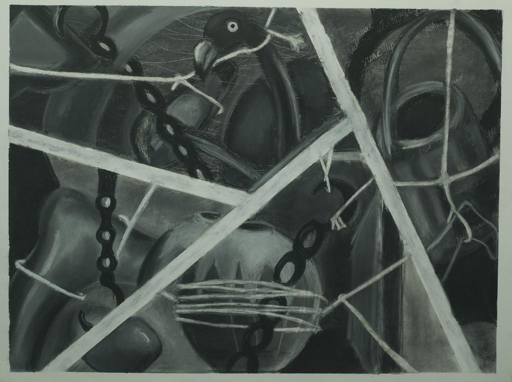 1024x763 Ambiguous Space Conte Drawing 2011 Ella Kulik
