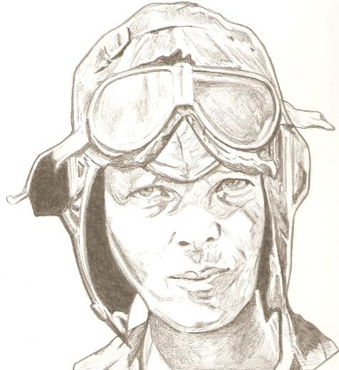 476x520 Amelia Earhart Drawing Drawings And Paintings