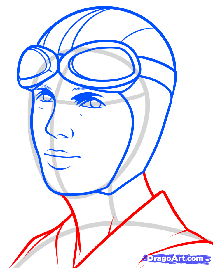 730x921 How To Draw Amelia Earhart, Amelia Earhart Step 8 Homeschool