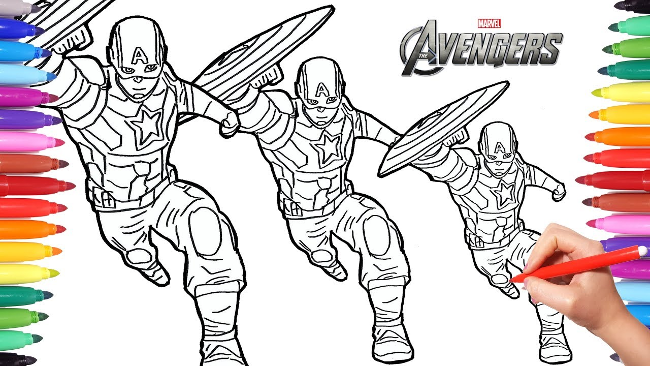 1280x720 How To Draw Captain America Drawing And Painting Captain America