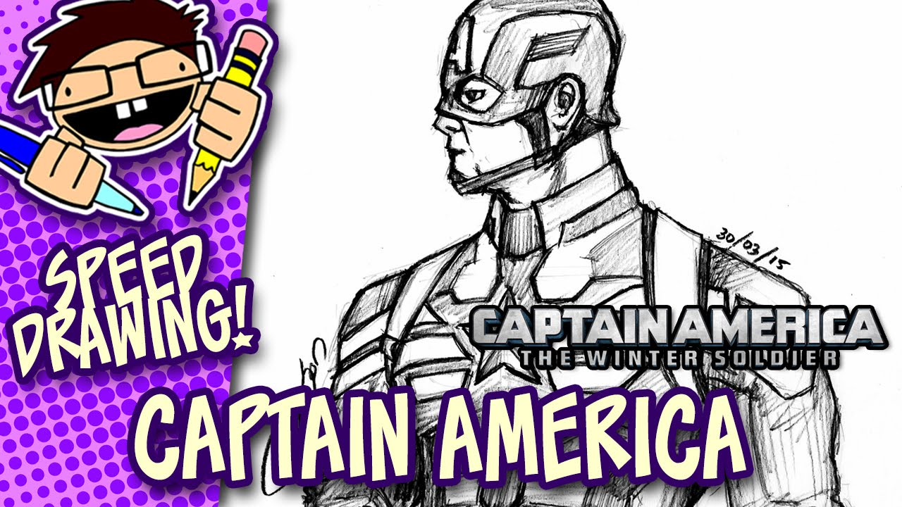1280x720 Speed Drawing Captain America (Captain America The Winter Soldier