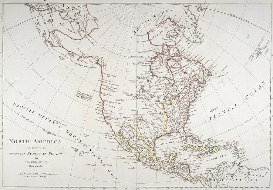 900x627 Map Depicting North America As Divided By The European Powers