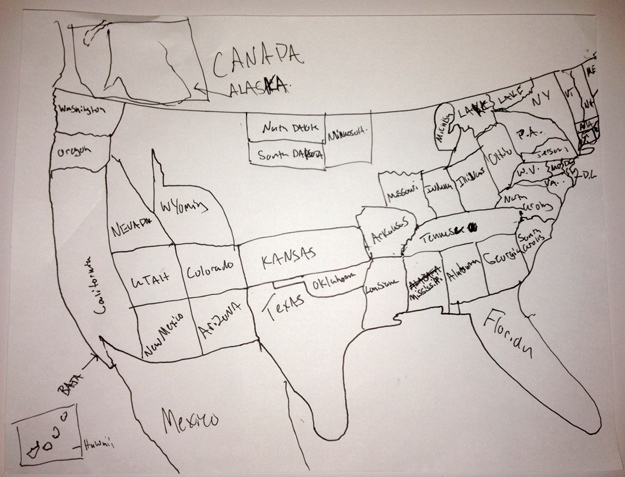 625x477 Map Of America Drawing