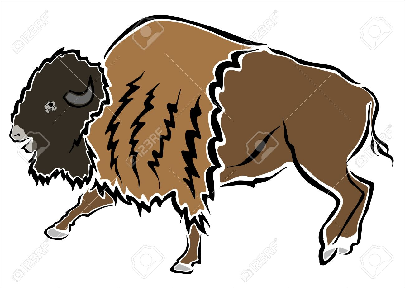 1300x925 Drawing Of An American Bison Royalty Free Cliparts, Vectors,