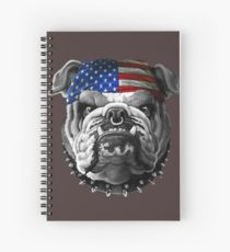 210x230 American Bulldog Drawing Spiral Notebooks Redbubble