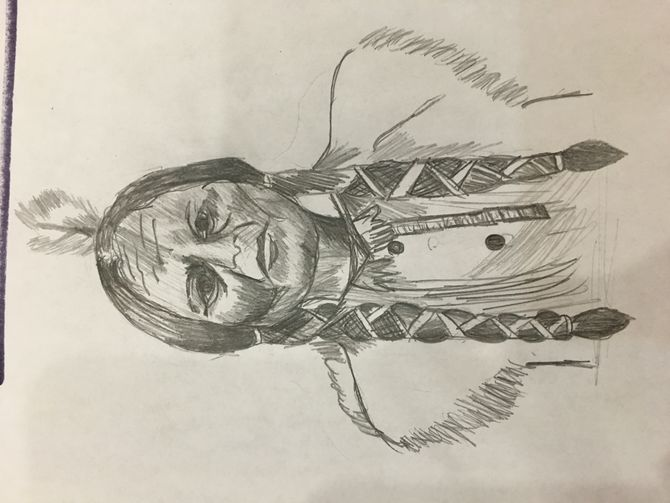 670x503 How To Draw A Native American Face 9 Steps (With Pictures)
