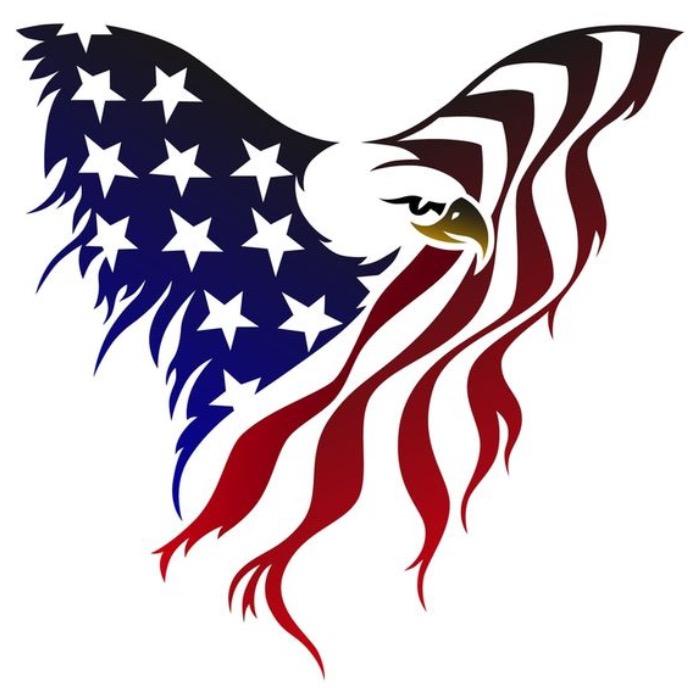 695x688 American Eagle Intricate Modern Day Tattoo Designs