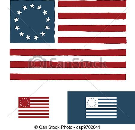 450x432 Original American Flag Design. Original Vintage American Vector