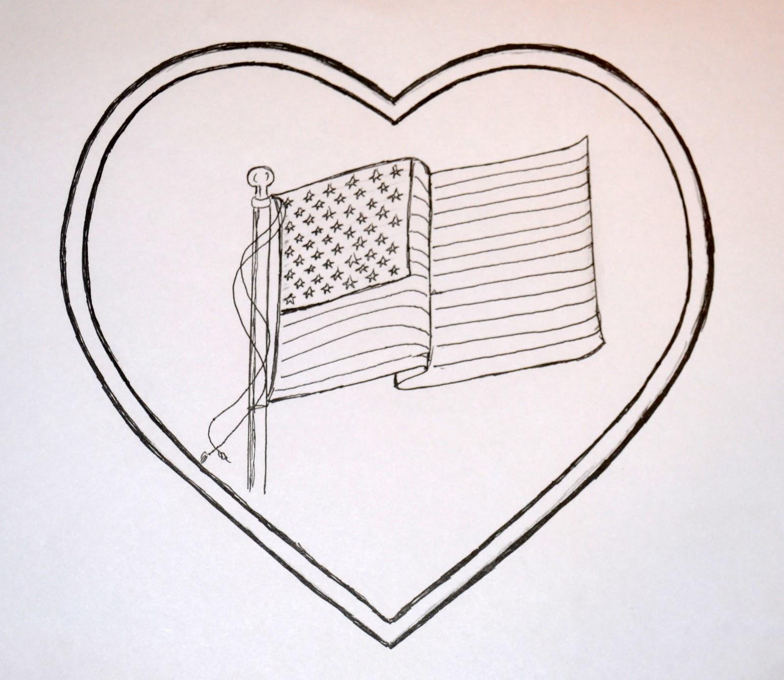 1600x1388 American Flag Heart Art Class Ideas