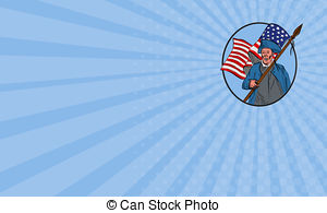 300x195 American Flag, Pencil Drawing Illustration Kid Style Photo