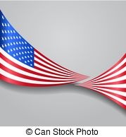 179x194 American Flag, Pencil Drawing Illustration Kid Style Vector