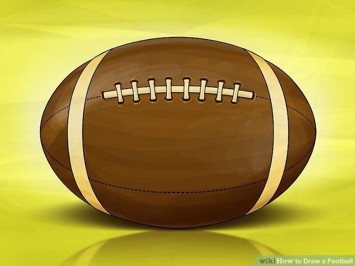 728x546 How To Draw A Football 13 Steps (With Pictures)
