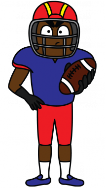 215x382 How To Draw An American Football Player, A Sportsman, Easy Step By