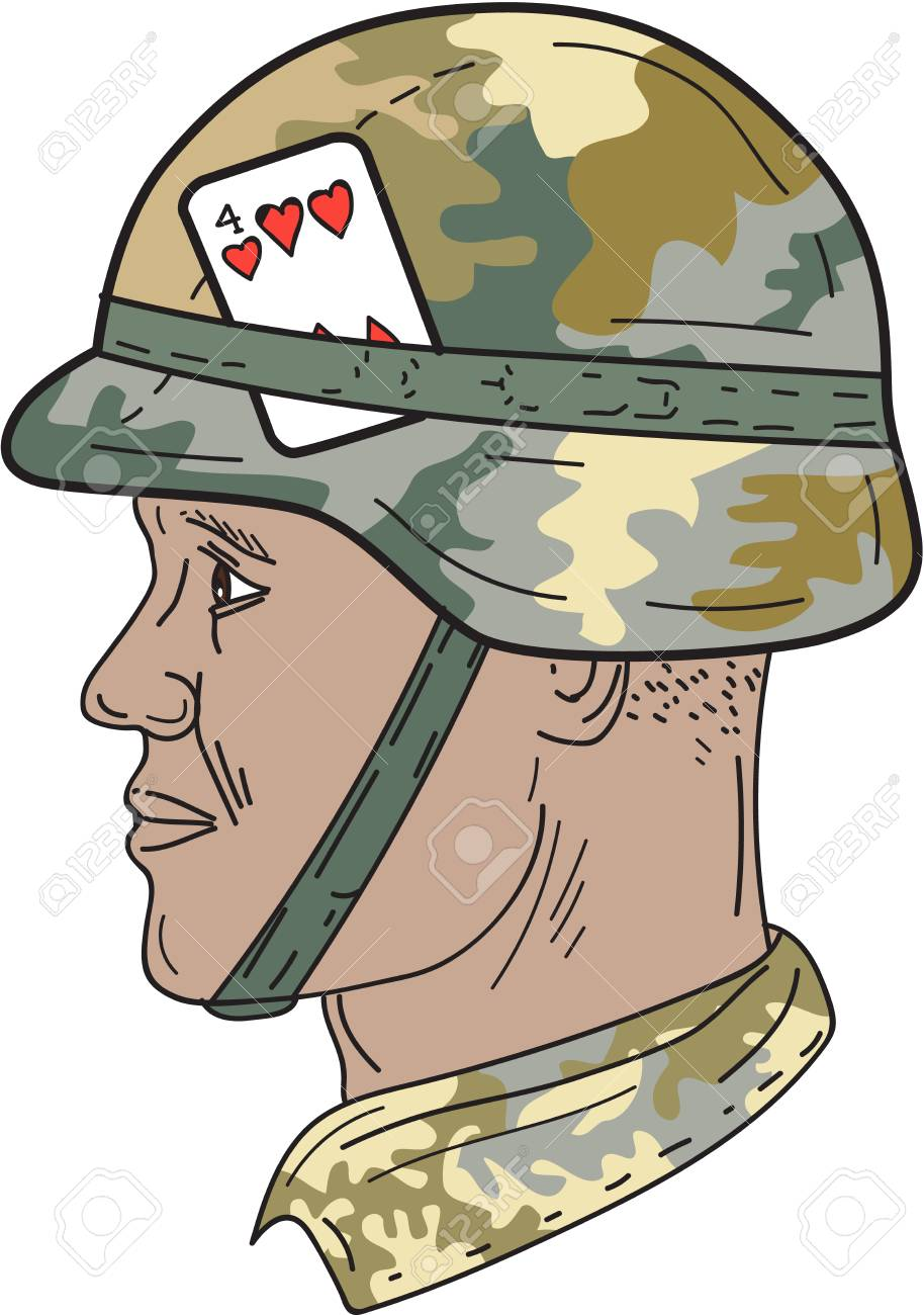 914x1300 Drawing Sketch Style Illustration Of An African American Soldier