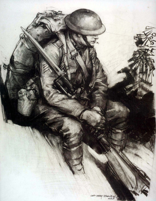 500x643 Drawing Of An American Soldier Of World War I Us Army 1890