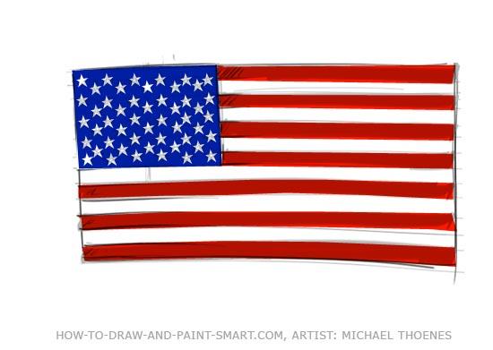 550x391 American Flag Graphics