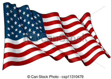 450x322 Flag Of Usa. Illustration Of A Waving American Flag Against