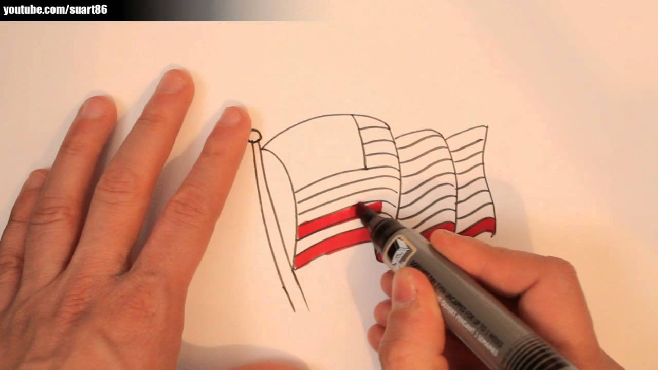 1280x720 How To Draw An American Flag