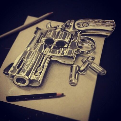 504x504 357 Magnum Drawing By Sarah Bliss Rasul Email For Info