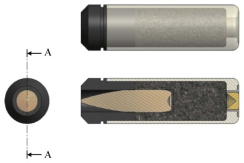 850x568 Away Drawing Of The 5.56 Mm Ct Ammunition.