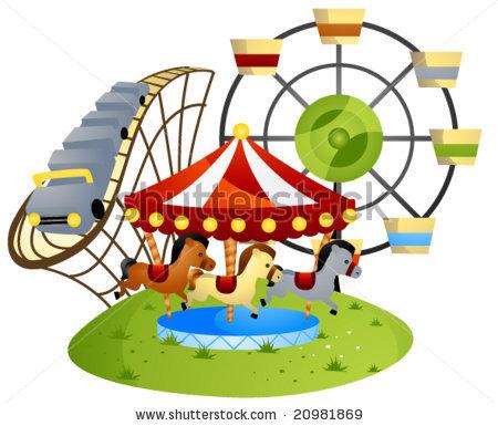 450x385 Amusement park themed crafts Amusement Park Drawings This Is