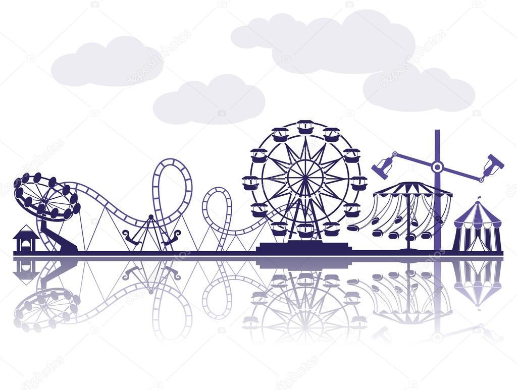 1024x773 Amusement Park Stock Vector Krylovochka