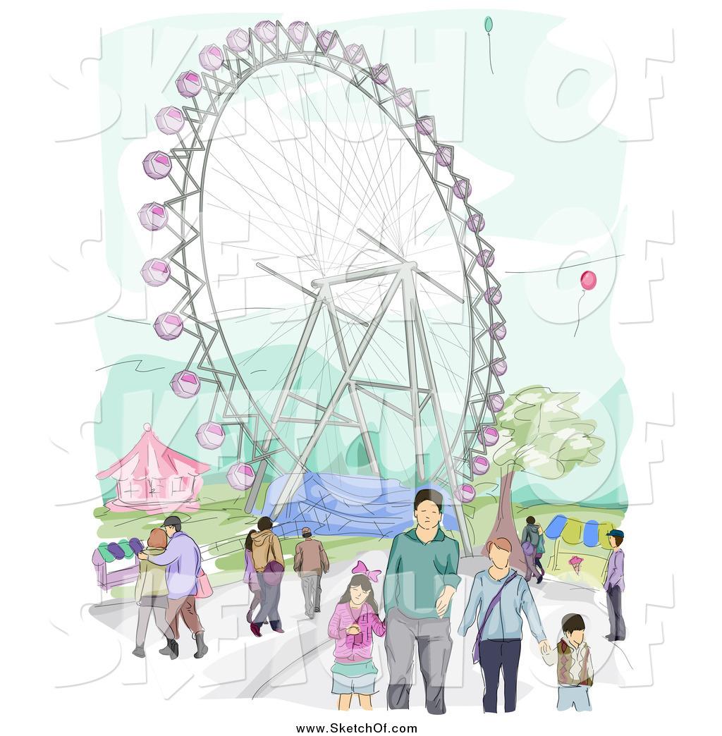 1024x1044 Drawing Of Amusement Park Drawn Park Amusement Park