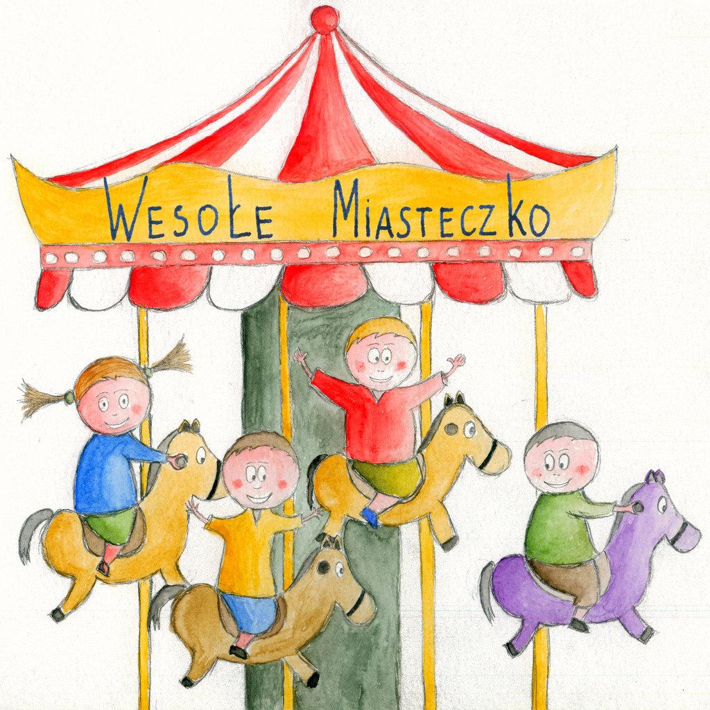1024x1024 Illustrations Drawings Amusement Parks Amusement Park By