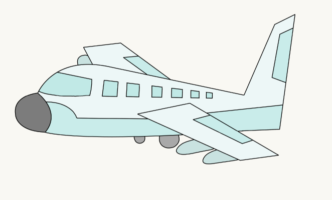 662x400 airplane drawing image group 63