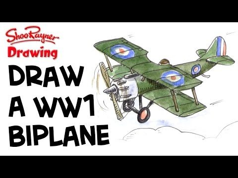 480x360 Learn To Draw A Wwi Biplane Shoo Rayner Author
