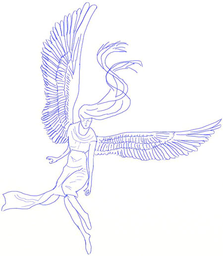 450x516 How To Draw An Angel