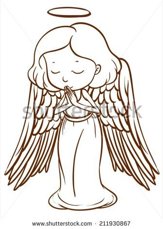 336x470 Pictures Simple Drawing Of An Angel,
