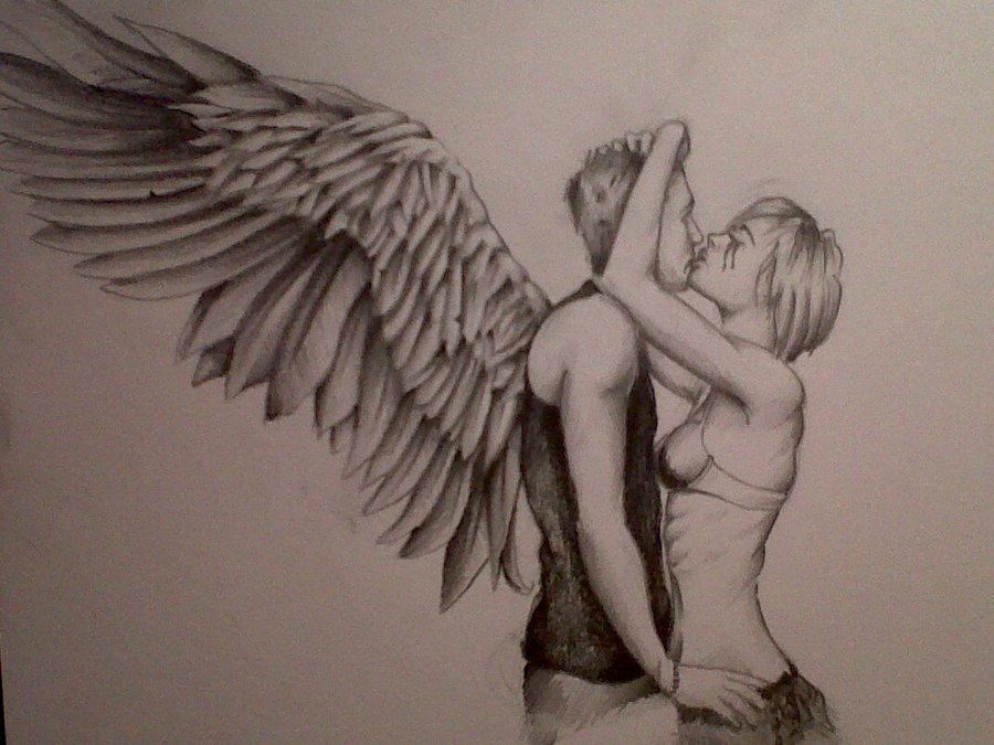 900x675 Angel Back Drawing
