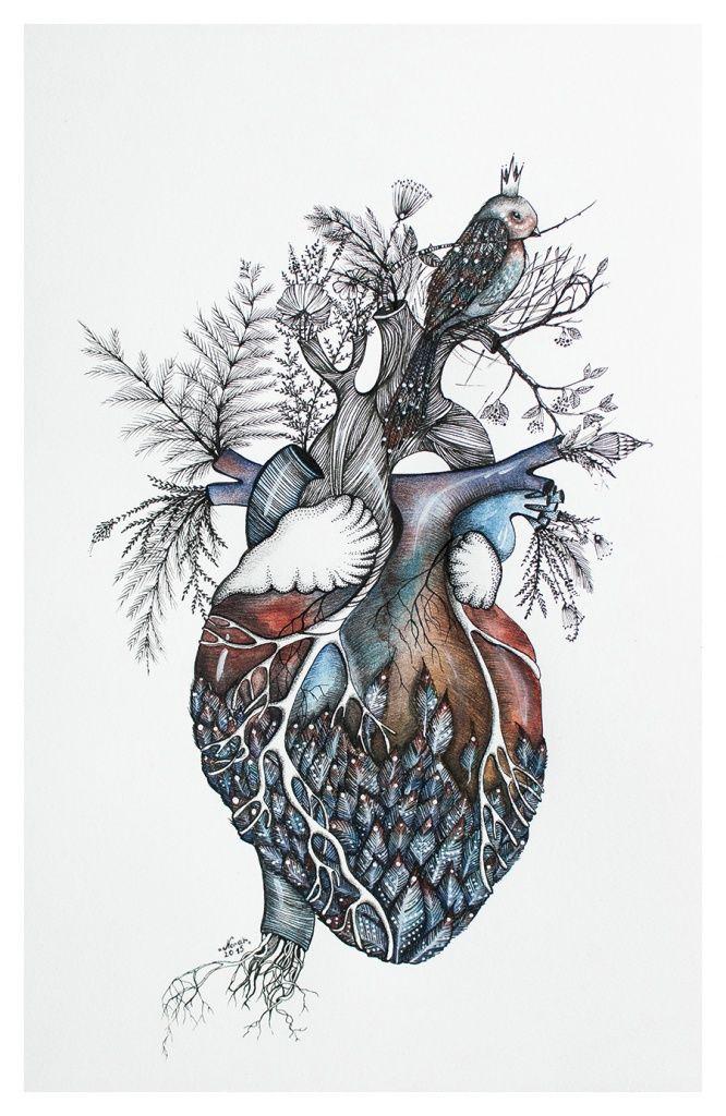 666x1024 Anatomical Heart Art (This Really Isn'T Anatomically Correct
