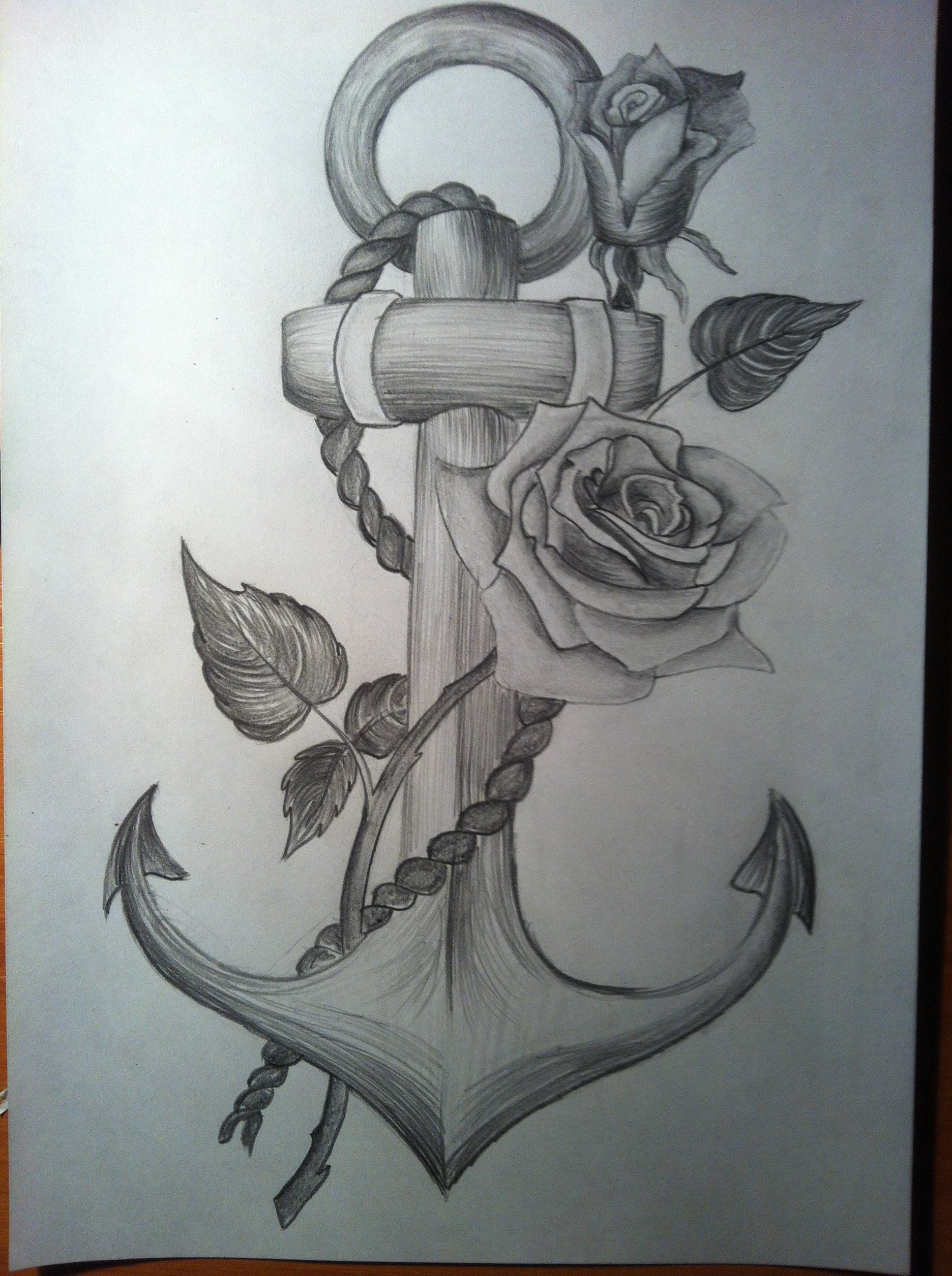 1936x2592 Anchor With A Rose Time Lapse Drawing
