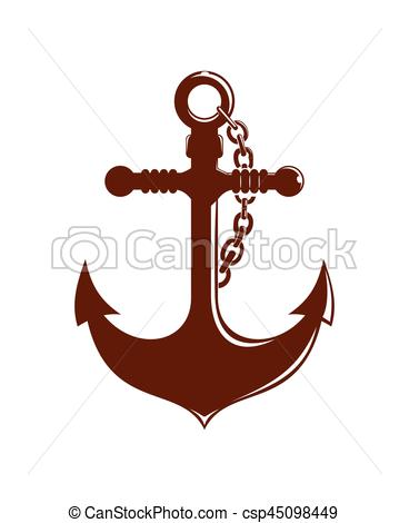 368x470 Ships Anchor With Chain. Logo Icons. Vector Illustration Eps
