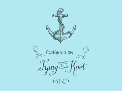 400x300 Anchor Drawing For Wedding Card By Erin