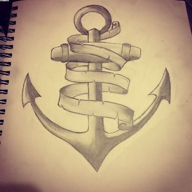 612x612 Anchor Tattoo Drawing Page