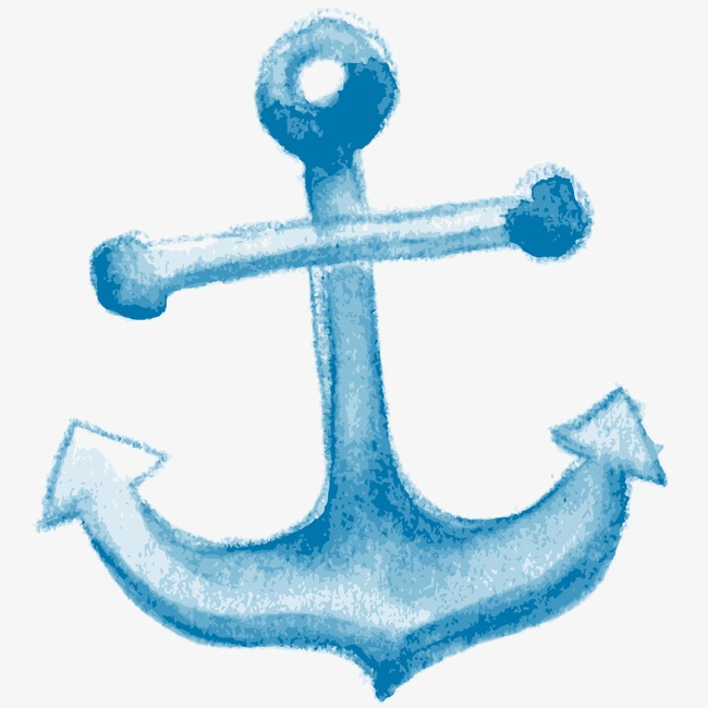 650x650 Blue Anchor, Drawing Anchor, Cartoon Anchor, Hand Painted Anchor