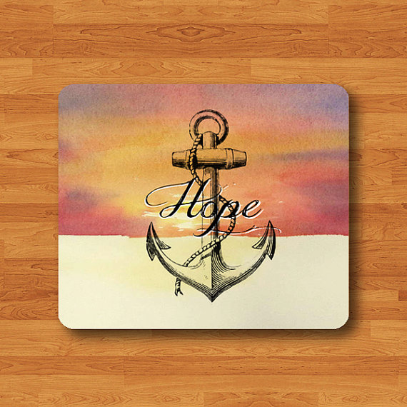 570x570 Quote Hope And Anchor Art Sky Mouse Pad Drawing Navy Ship Signal