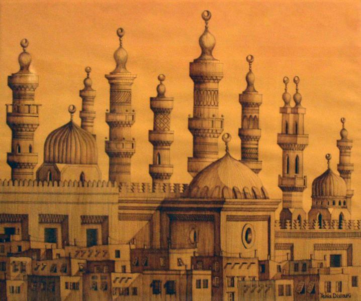 718x600 Fileyehia Dessouki Ink Drawing Ancient Cairo 02.jpg