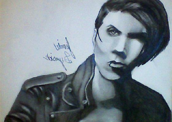 560x400 Andy Biersack (Very First Charcoal Drawing) By Emokitten687