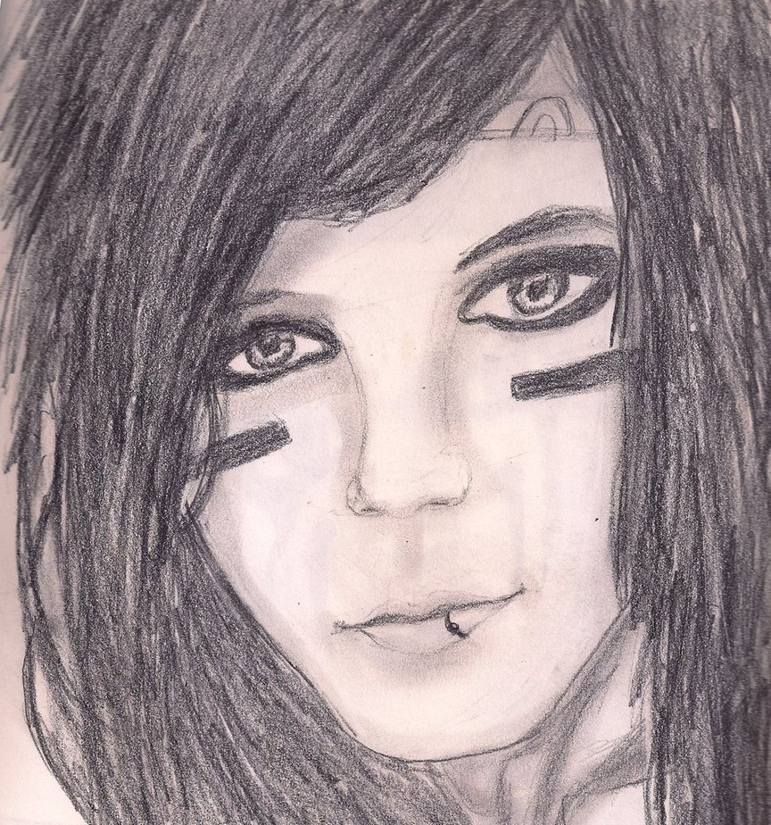 864x924 Andy Biersack Drawing By Loveroftheartsforvr
