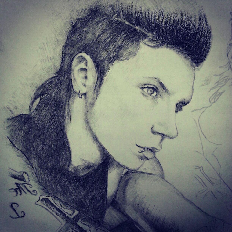 1224x1224 Andy Biersack Drawing