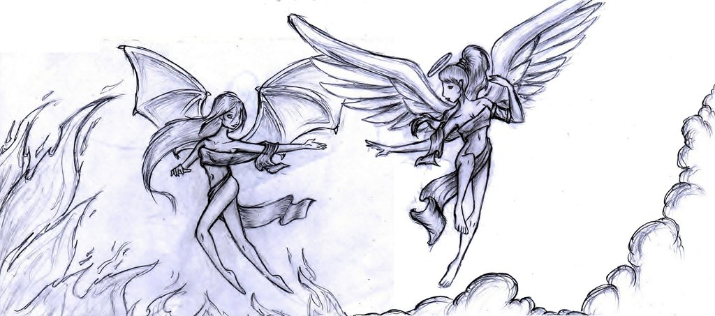 1024x453 Angel Vs Devil By Twickygirl
