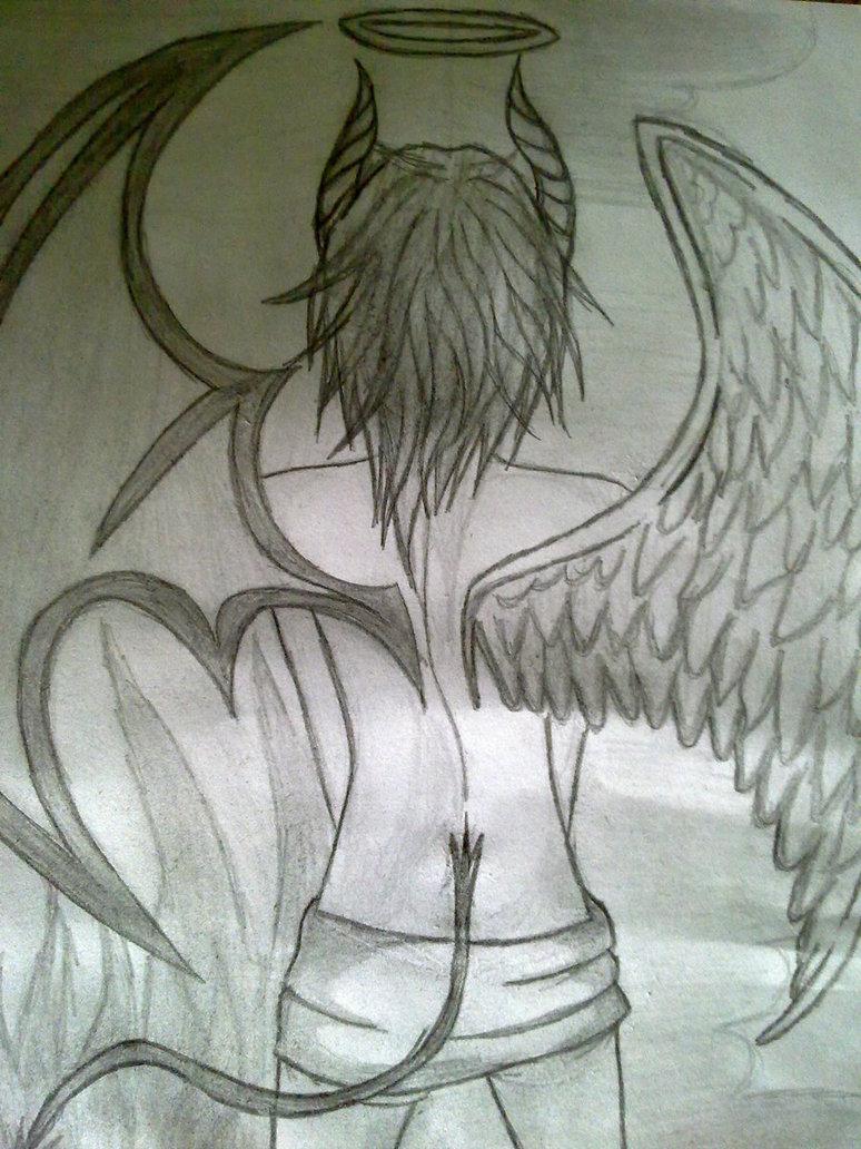 774x1032 Devil Half Angel By Erzaknight