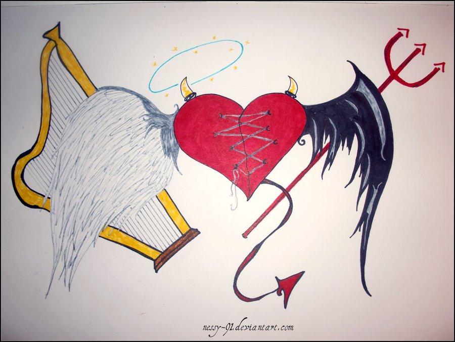 900x676 Angel . Devil By Nessy 91