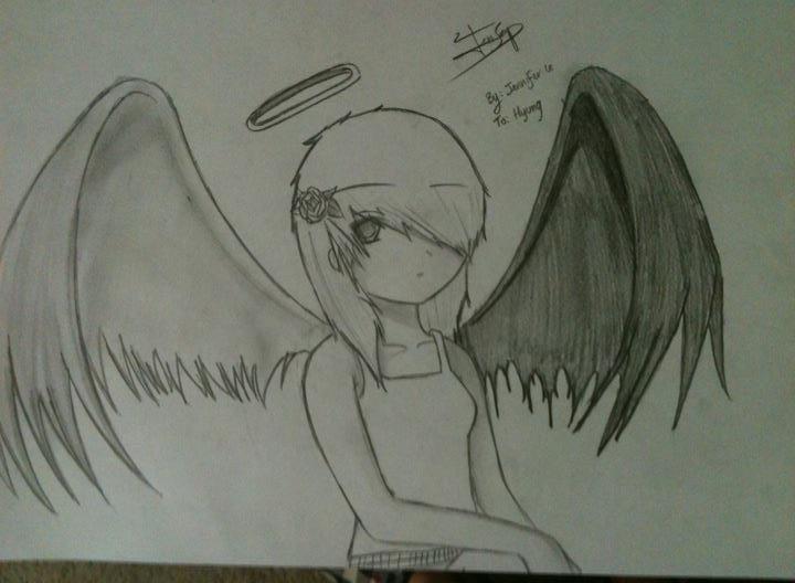 720x528 Anime Girl Fallen Angel By Jenseob