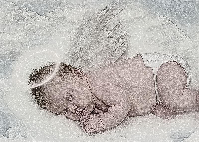 800x574 Angel Baby Drawing